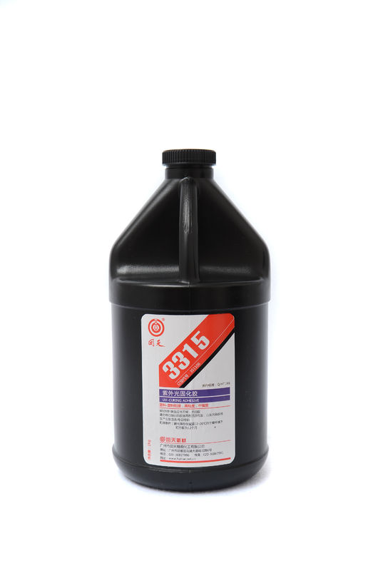 3511 Single component high viscosity medium intensity UV Curing Adhesive For plastic and plastic bonding
