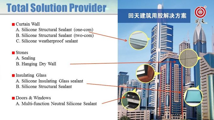 Customizable polyurethane silicone sealant for weather resistant sealing curtain walls